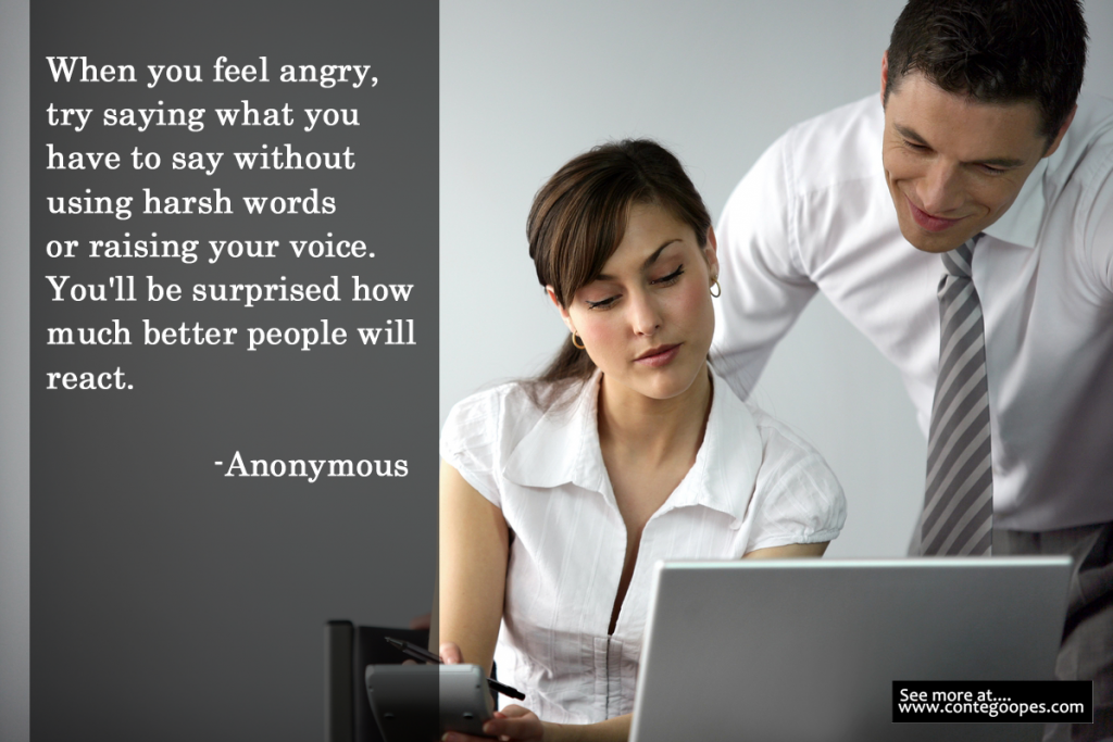 quote on not being angry
