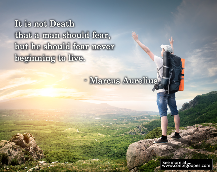 random quote on fearing life