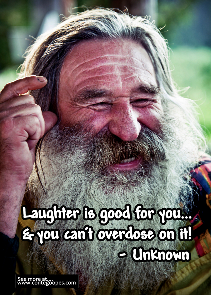 random quote on laughter beibg good