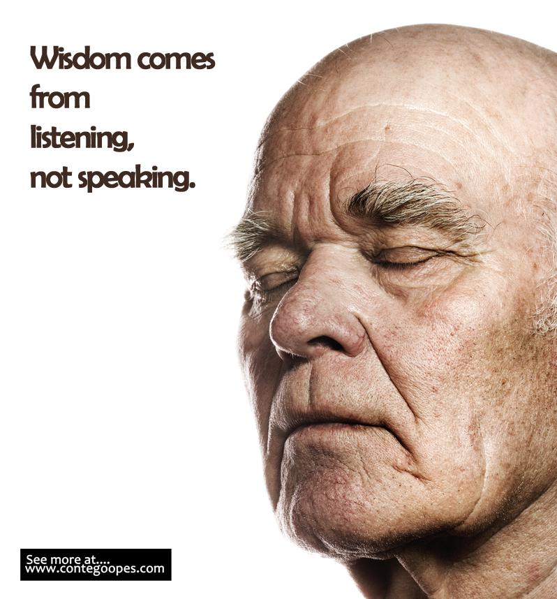 wisdom from listening no speaking
