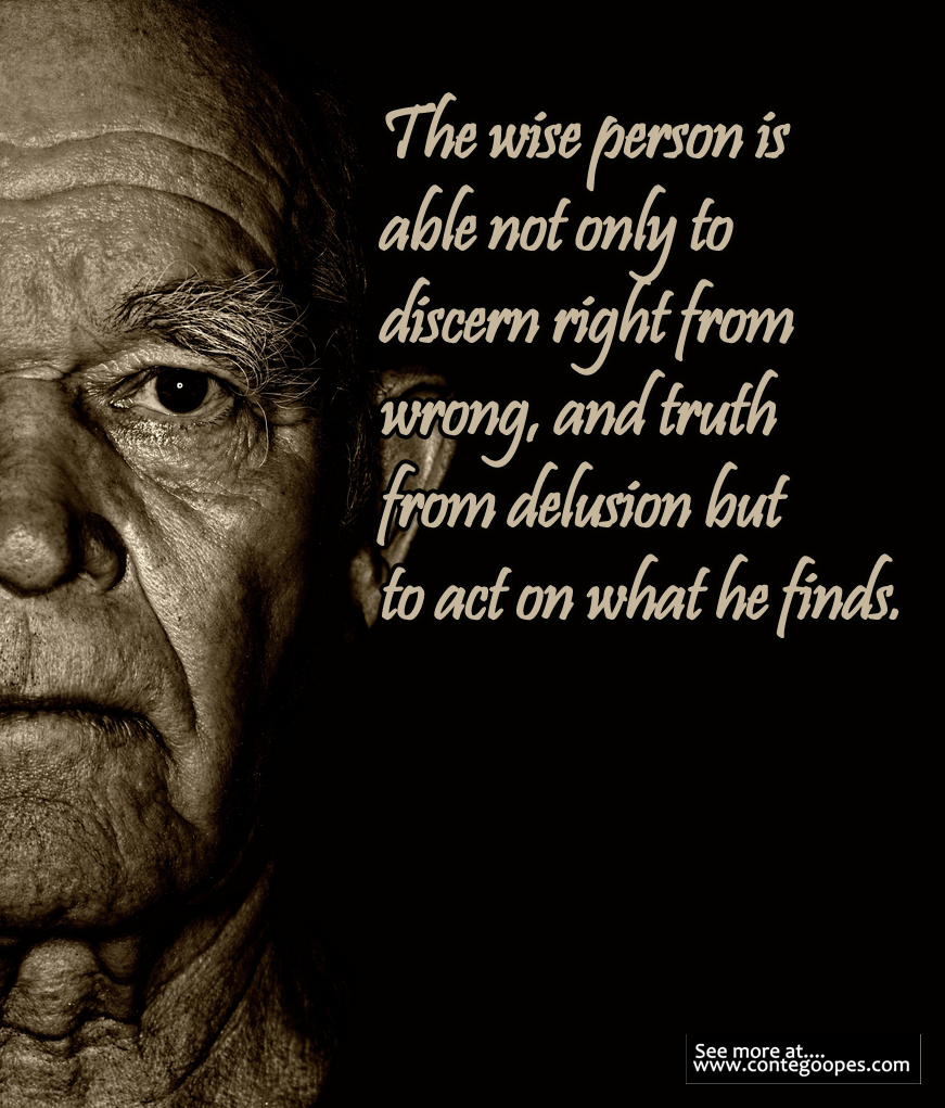 wise person discern between right and wrong