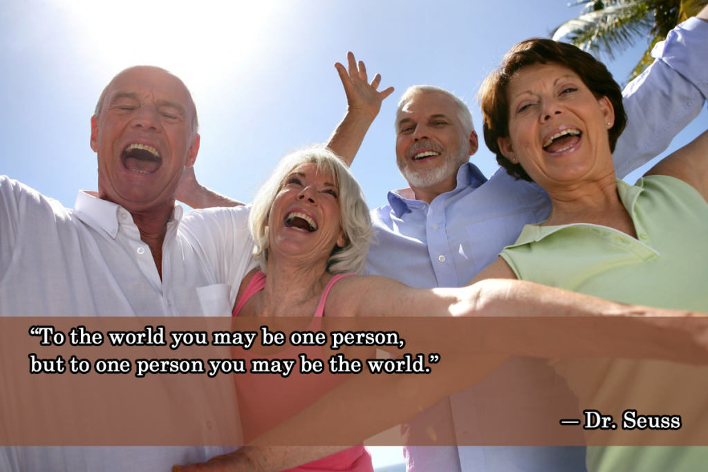 quote on being the world to one person
